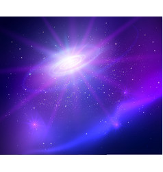 space with universe spiral background vector image