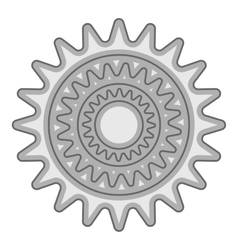 Sprocket for bicycle icon gray monochrome style vector image