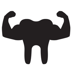 Strong Teeth Icon Black vector image