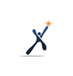 success life logo design template vector image
