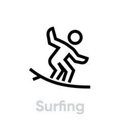 Surfing sport icons vector