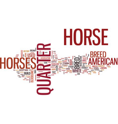 The american quarter horse text background word vector