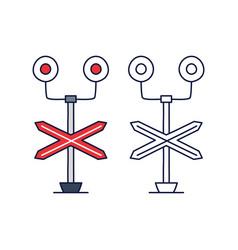 train barrier light stock icon cartoon style vector image