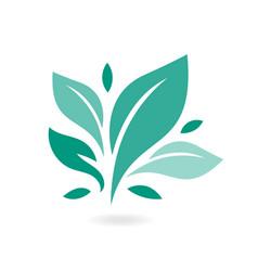 tree leaf ecology nature icon eco icon vector image