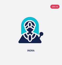 Two color indra icon from india concept isolated vector