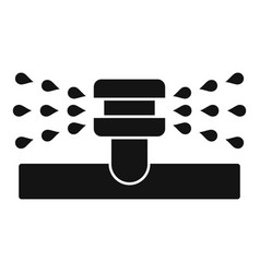 Water sprinkler icon simple style vector