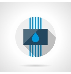 Water system round flat design icon vector