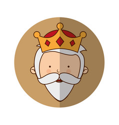 Wise man manger character vector