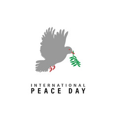 World peace day greeting card international vector