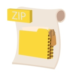 ZIP icon cartoon style vector