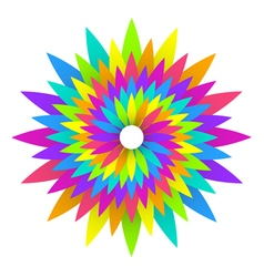 abstract geometric rainbow flower logo design vector image