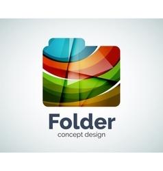 Computer folder logo template vector image