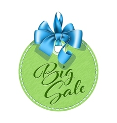 Green tag sale vector image