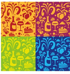 holiday food seamless pattern vector image