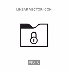 Icon folder for documents vector