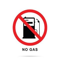 no gas sign with gasoline pump vector image