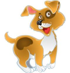 Orange fun dog vector image vector image