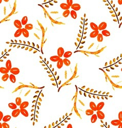 seamless broun flower vector image vector image