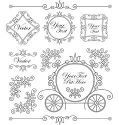 set vintage ornaments vector image vector image