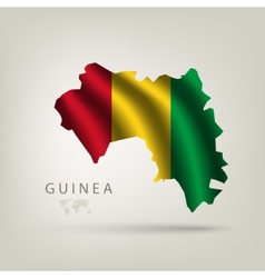 flag Guinea as the country vector image