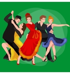 Girl flamenco dancer in red dress spanish vector image vector image