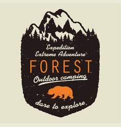 outdoor expedition typography vector image