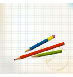 paper and pencils vector image