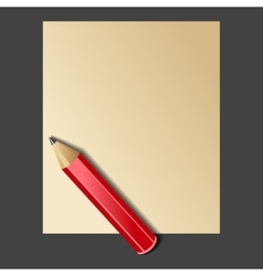 Paper and Red Pencil vector image vector image