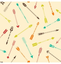 Seamless pattern with colorful Indian arrows vector image vector image