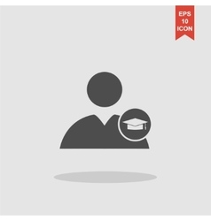 User icon Graduation cap vector image vector image