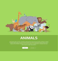animals banner website template vector image