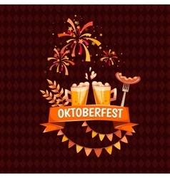Banner for Oktoberfest celebration Beer and vector image vector image