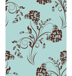 floral wallpaper pattern vector image vector image