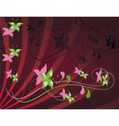 flowery template vector image