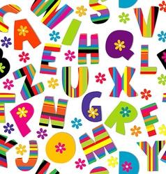 Happy alphabet seamless vector image