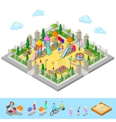 Isometric Children Playground in the Park vector image