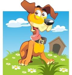 puppy bright vector image vector image