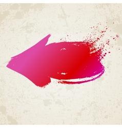 Red grunge arrow vector image vector image