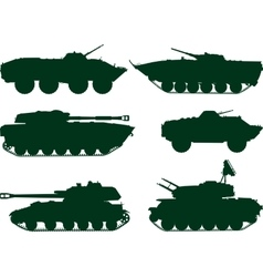 Soviet military vehicles vector image
