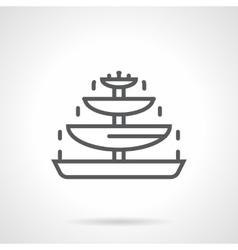 Chocolate fountain black line icon vector image vector image