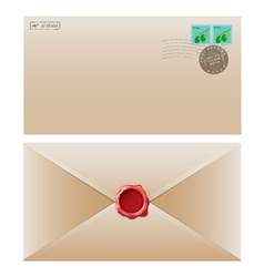 envelope brown vector image