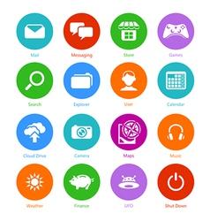 System flat icons - Set I vector image