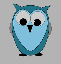 wise blue owl vector image