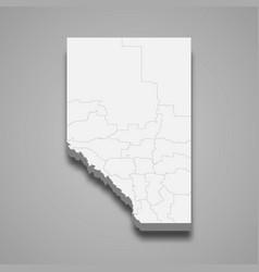 3d map province canada vector