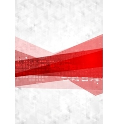 Abstract red grey technology background vector