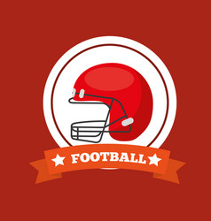 american football helmet sport game emblem vector image