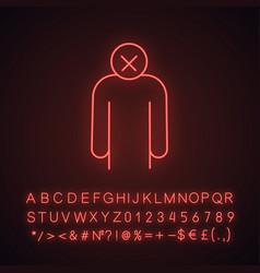 Apathy neon light icon vector