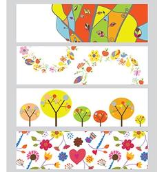 Autumn horizontal banners set vector image