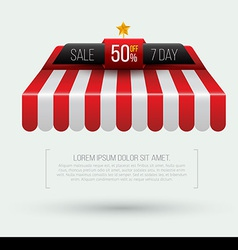 Awning Seven day sale banner roof vector image