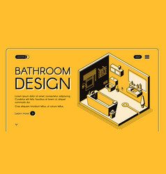 bathroom design isometric web banner vector image